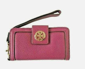 Tory Burch Amanda Smart Phone Wallet Wristlet in Fuchsia Leather FOR iPhone 4