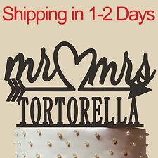 Wedding Gift, Personalized cake topper, Mr and Mrs, Acrylic, Made in USA,6''