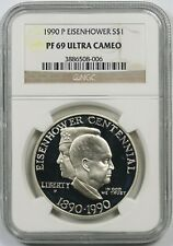 1990-P PCGS PR69DCAM Eisenhower Commemorative Dollar Don/'t Tread On Me