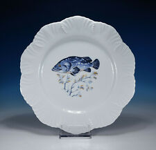 """Royal Limoges """" Ocean from The Fish Service Plate """" """" Dinner Plate"""