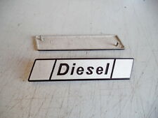 "FIAT 131 Diesel - FREGIO-LOGO-SIGLA-SCRITTA (BADGE) DIESEL  """" ALLUMINIO"