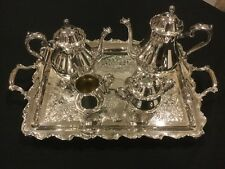BEAUTIFUL JOANNE WEBSTER-WILCOX SILVER PLATED 5 PIECES TEA COFFEE SET
