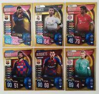 2019/20 Match Attax UEFA Soccer Cards - Set of 6 Centurion Cards - Messi Ramos