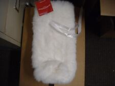 New ! White Faux Fur Wine Gift Bag  Wondershop