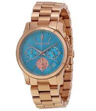 Nuevo reloj de mujer cronógrafo Michael Kors RUNAWAY, oro rosa MK6164