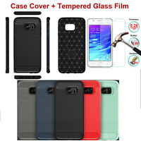 Ultra-thin Luxury Soft Silicone TPU Case Cover + Screen Film For Samsung Galaxy