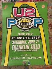 New listing U2 Popmart poster, Very Rare 2-show poster, Franklin Field, Philadelphia