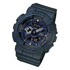 Casio Baby-g Ba-110dc-2a1 Denim Design Analog Digital Ladies Jeans Pattern Watch