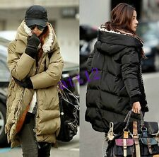 Women Military OverCoat Fur Hooded Winter Duck Down Jacket Thick New Parka Coat
