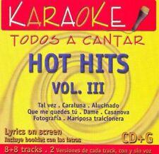 KARAOKE TODOS A CANTAR  Hot Hits Mana 3 music cd brand new---cd2