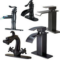 Bathroom Basin Faucet Sink Single Hole Waterfall Mixer Tap Oil Rubbed Bronze