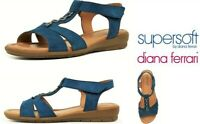 Supersoft by Diana Ferrari Comfort wedge leather Sandals Supersoft Ferraro
