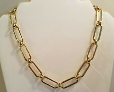 NWT RALPH LAUREN BRILLIANT GOLD OVAL AND CIRCULLAR CHAIN NECKLACE  2101
