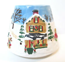 Yankee Candle Small Shade Jar Topper Snow Covered Christmas Village