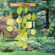 woodstock chimes mini capiz chimes lime green c127 - Bamboo Garden Decor