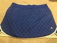 New Adidas Golf Rangewear Women's Golf Skirt Skort Size XL Blue White