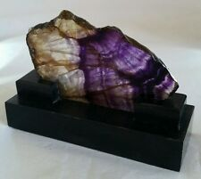 "Blue John novelty paperweight  ""Treak Cliff Blue Vein."" & Ashford black marble"