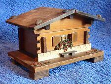 Vintage Wooden Music Box - Emmenthalerlied Made in Switzerland