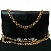 AUTHENTIC CHANEL Caviar Black Leather CC Long Wallet~US SELLER