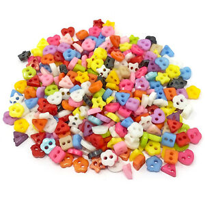 300pcs 6mm Multicoloured Mix Resin Buttons For Cardmaking Embellishment