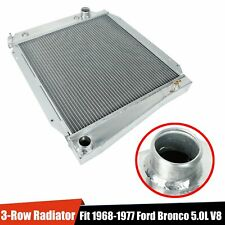 3-Row Aluminum Core Performance Cooling Radiator Fit 1968-1977 Ford Bronco 5L V8