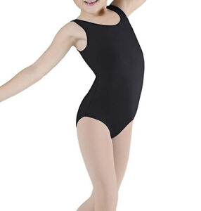 made of soft and durable cotton blend hot pink and purple light blue black with wide straps tanzmuster girls ballet leotard Lissy white pink