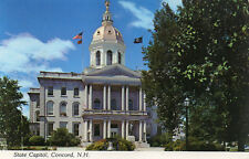 postcard   USA  New Hampshire Concrd State Capitol unposted