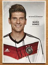 Mario Gomez 1. AK DFB 2014 Autogrammkarte original signiert