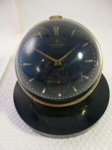 Kitsch / Retro Observator 8 days Glass Orb Skeleton Lens Clock 17 J Not Working