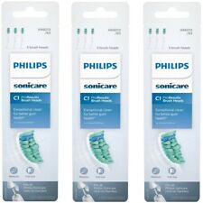 9 Philips Sonicare C1 ProResults Brush Heads Medium Full Toothbrush (Total 3 Pk)