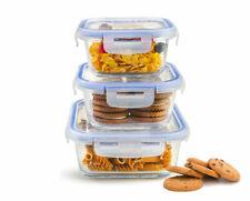 6tlg. Frischhaltedosen Glasdose Lunchbox Vorratsdosen Brotdose -40 bis 250°C