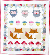 Clearance - Forest Folk Quilt - fun pieced kids quilt PATTERN - Red Brolly
