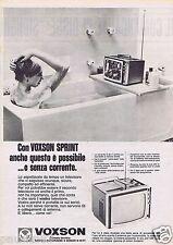 Publicité Advertising 106 1968 Voxson télévision portable