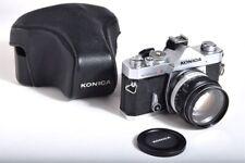 KONICA Autoreflex T3 Camera / Hexanon 57mm f1.4 lens. Case & Filter