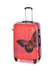 Maletas y equipaje rojos rígido con 4 ruedas