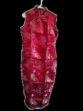 Dress (chinese, 8, silk/satin, burgundy theme, gold button, free shipping)