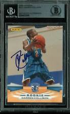 Hornets Darren Collison Authentic Signed Card 2009 Panini RC #321 BAS Slabbed