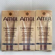 Ambi Skincare Fade Cream Normal Skin 2 oz Lot of 3 Vitamin E Alpha Hydroxy Acid