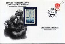 Los pedidos de la segunda guerra mundial 1941 Hitler Moscú ofensiva detener Sello Cubierta (Rusia/Danbury Mint)