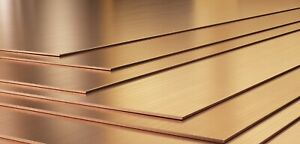 2MM thick. Copper sheet/plate. Grade CW024A/C106. Laser cut quality.
