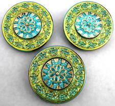 1860-1939 LARGE!! MUCHA A Art Nouveau 3 Unique Brass Buttons #G580