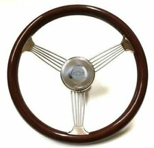 "All Years Chevy Truck w/ GM, Ididit Column 15"" True Drk Banjo Steering Wheel Kit"