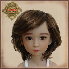 "Kd0007A Short curly hair Girls the Orient Ruby Red Galleria 15"" doll wig 9-9.5"""