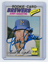 1977 BREWERS Jerry Augustine signed ROOKIE card Topps #577 AUTO RC Autographed