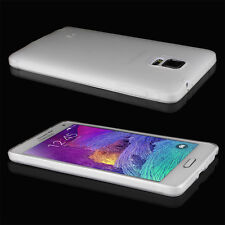 Samsung GALAXY Note 4 Ultra thin Slim Matte Back Soft TPU case cover Skin Clear