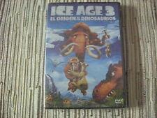 DVD ANIMACIÓN ICE AGE 3 EL ORIGEN DE LOS DINOSAURIOS LA EDAD DEL HIELO 3 NUEVA
