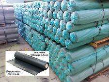 Black Poly Film - Builders Film - Plastic sheeting - 2m wide - 100m per roll