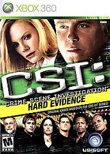 CSI: Crime Scene Investigation - Hard Evidence (Microsoft Xbox 360, 2007)