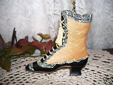 VICTORIAN HIGH TOP SHOE NECKLACE & GOLD CHAIN