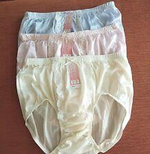 f673096c4320 3 Nylon Lace Soft Briefs HI-Cut Vintage Style Women Size XL Pantie Underwear